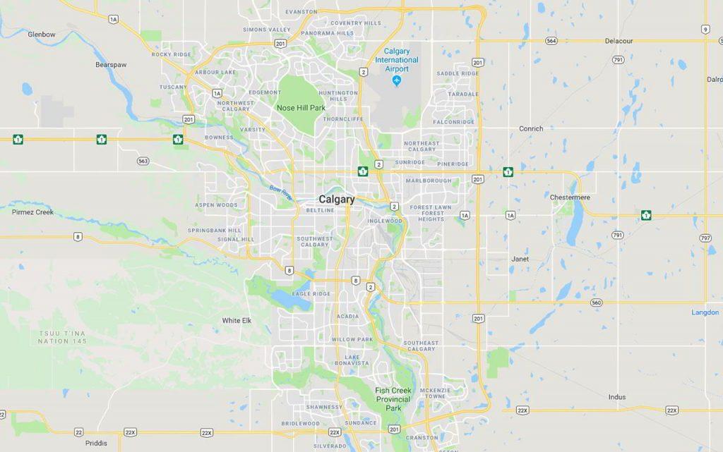 Calgary Courier Service Area